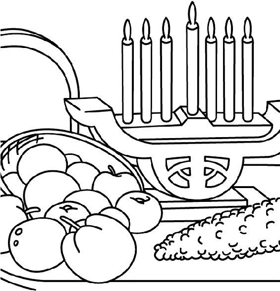 Download Hd Kwanzaa And The Fresh Fruit Coloring Pages Kwanzaa Coloring Page Transparent Png Image Nicepng Com