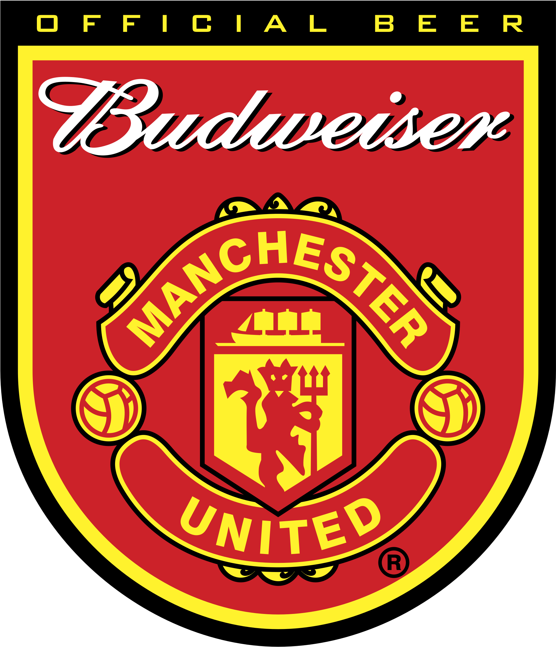 Download Hd Budweiser Manchester United Logo Png Transparent Manchester United Transparent Png Image Nicepng Com
