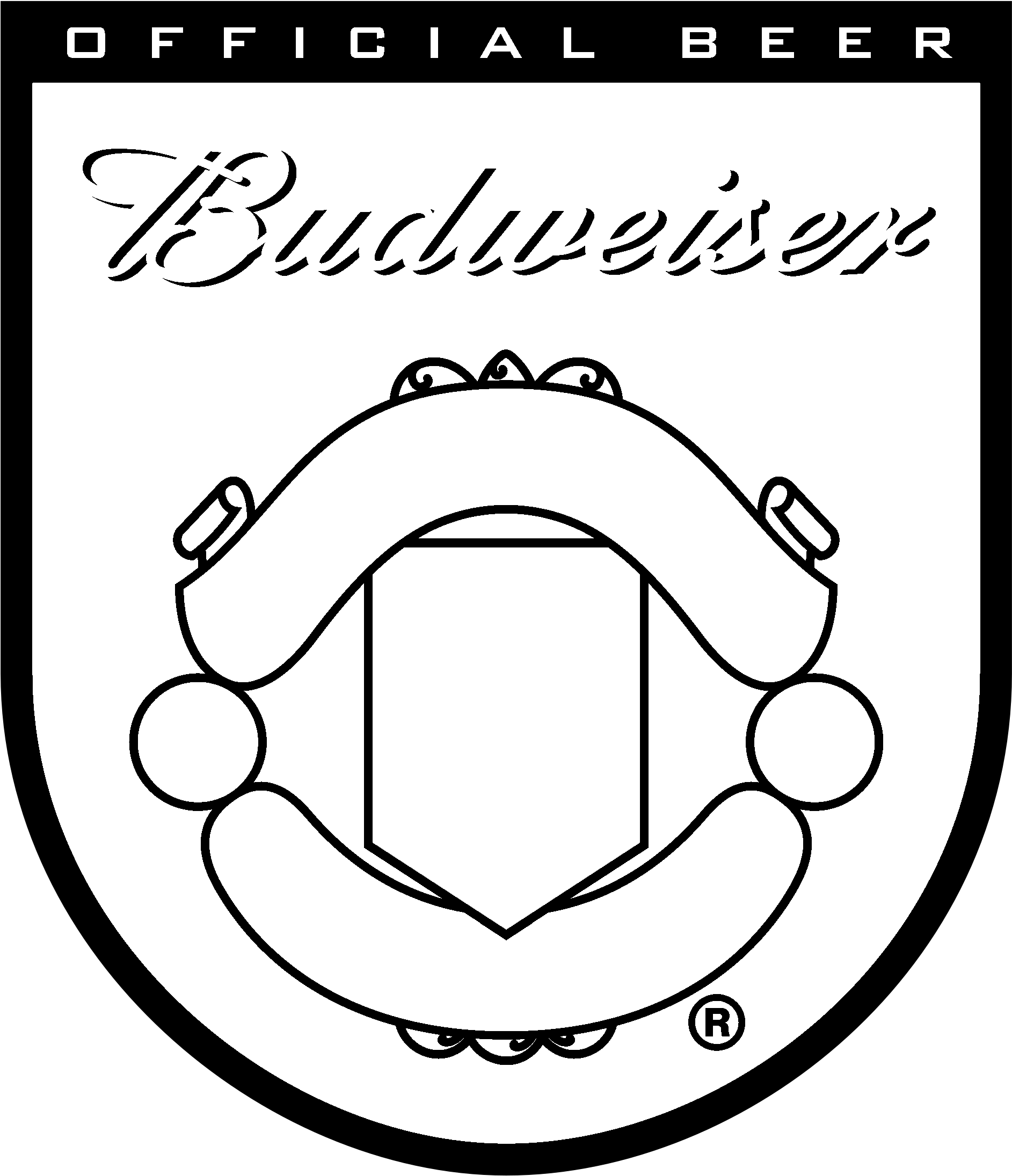 download hd budweiser manchester united logo black and white manchester united transparent png image nicepng com nicepng