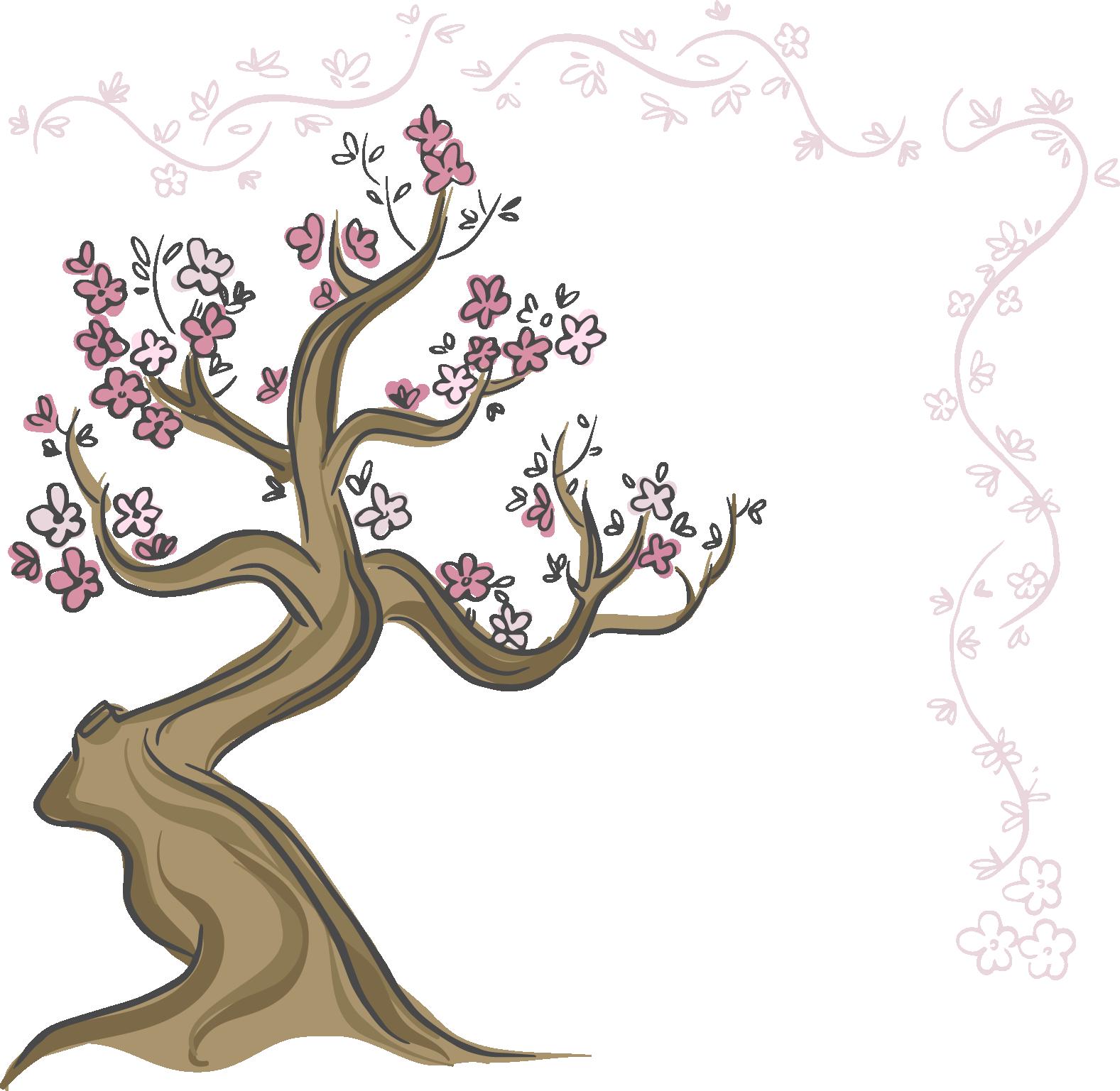 Arbol De Cerezo Japones download hd drawn cherry blossom cherry bloosom - dibujo