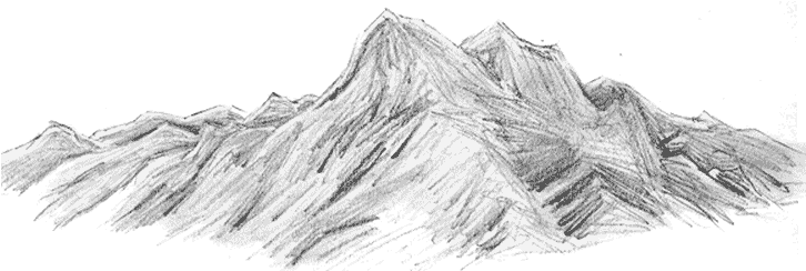 Download Hd Collection Of Free Mountains Plain Download On Mountain Range Sketch Transparent Png Image Nicepng Com
