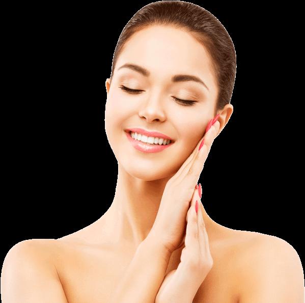 Download Hd Spa Mendham Woman Face Skin Care Happy Smiling Model Transparent Png Image Nicepng Com