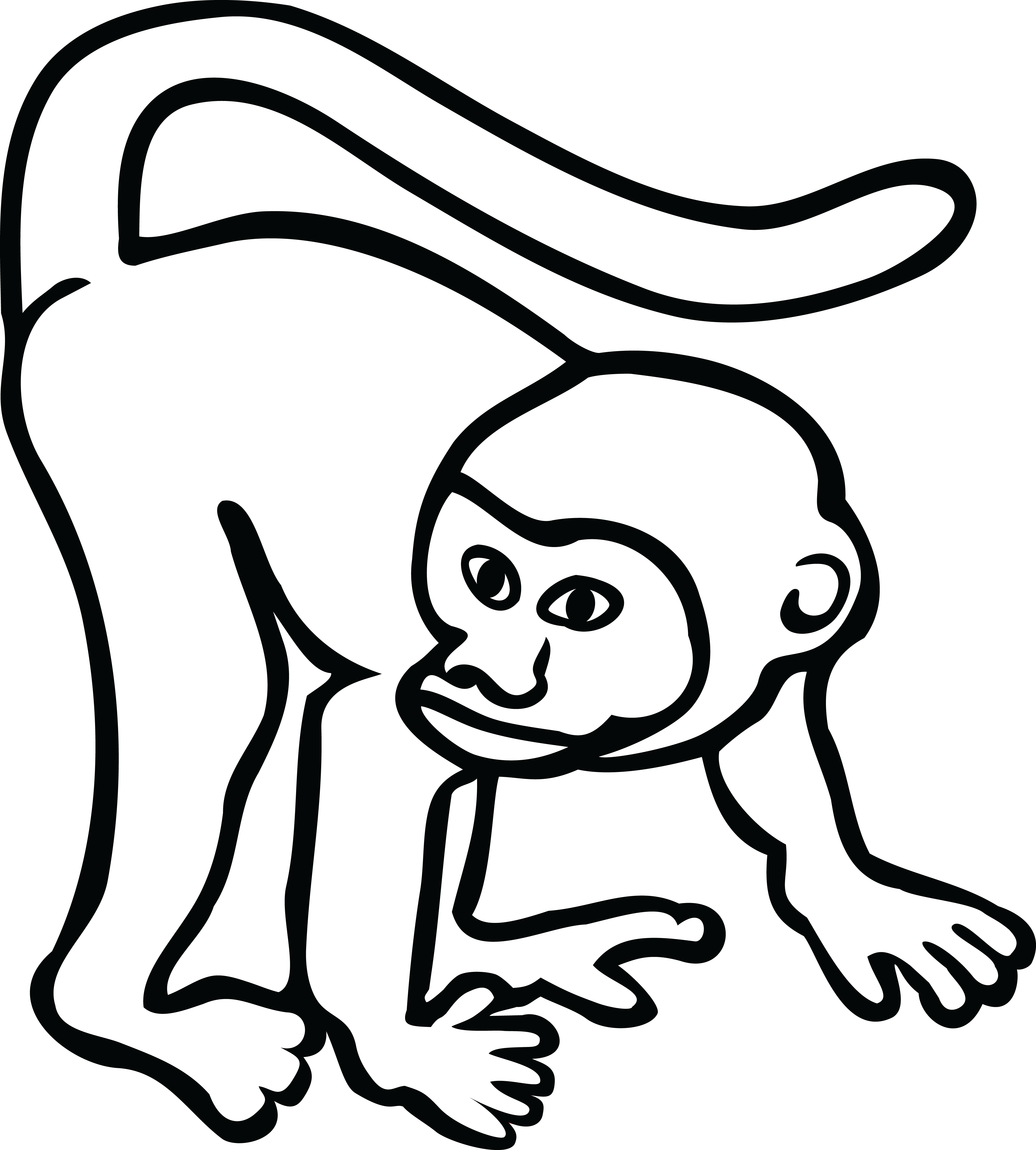 Download Hd Free Clipart Of A Monkey さる かっこいい フリー イラスト Transparent Png Image Nicepng Com