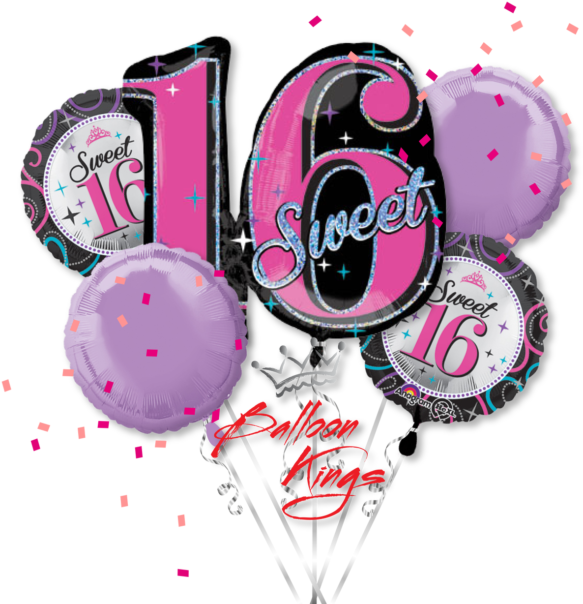 Download Hd Sweet 16 Bouquet Sweet 16 Balloon Bouquet Each Transparent Png Image Nicepng Com