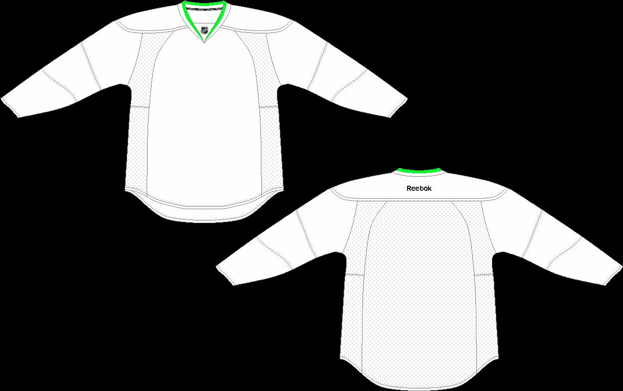Download HD Blank Hockey Jersey Template - Long Sleeve