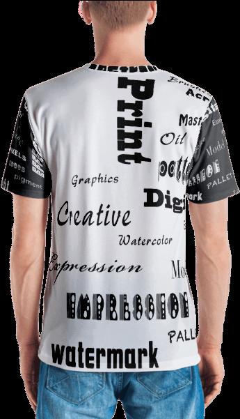 48f1081d8 Download HD Artist Full Print Men's T-shirt - T-shirt Transparent ...