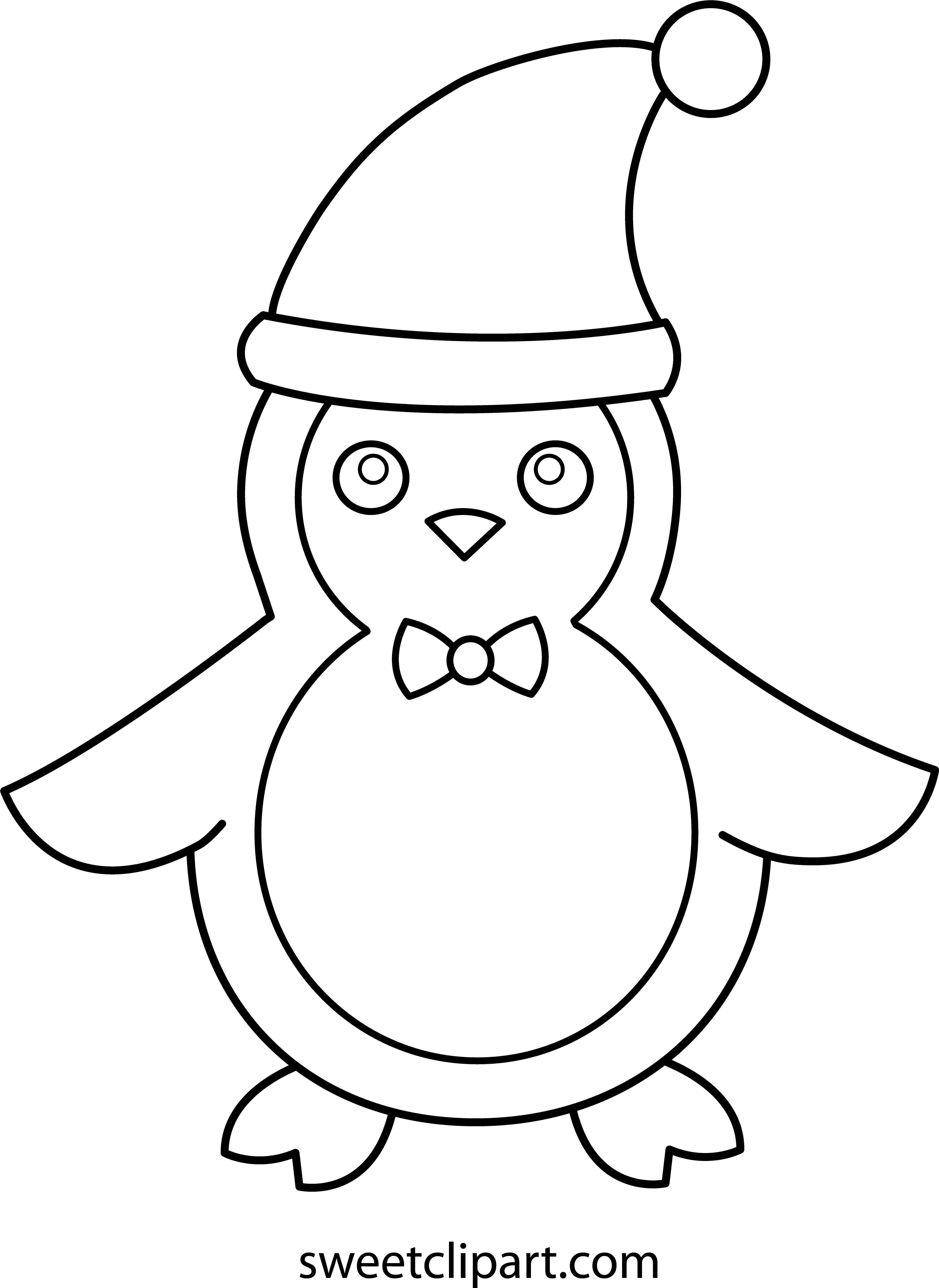 Christmas Penguin Coloring Pages – AZ Coloring Pages (With images ... | 5430x3957