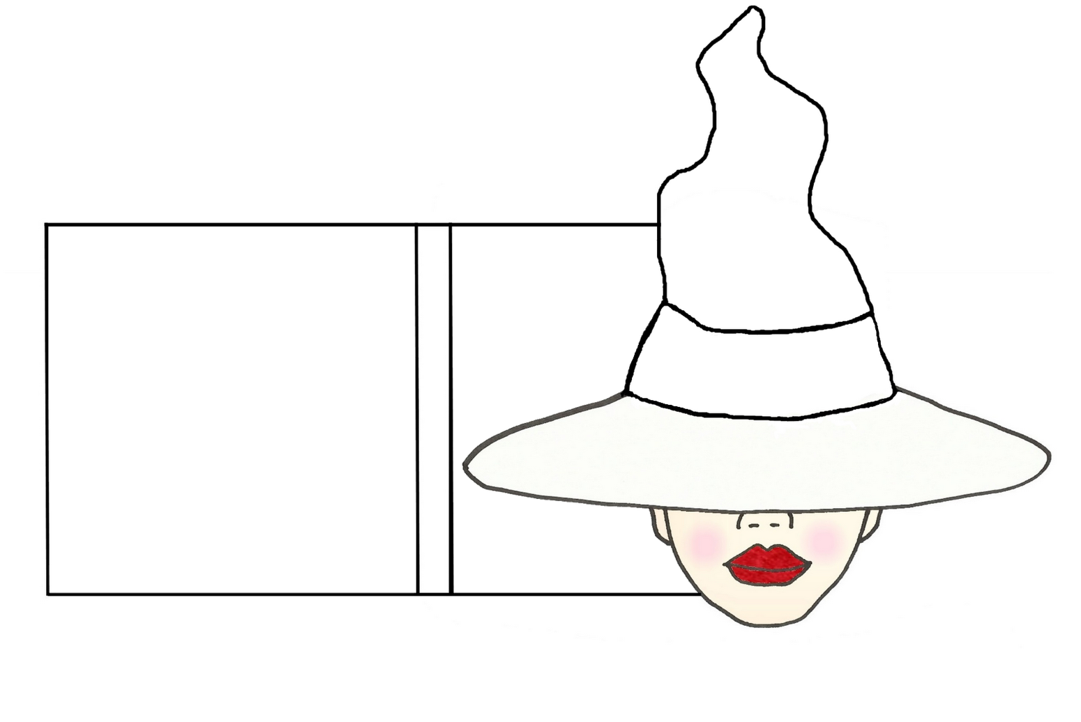 Download Hd Witch Hat Template 242218 Cartoon Transparent Png Image Nicepng Com