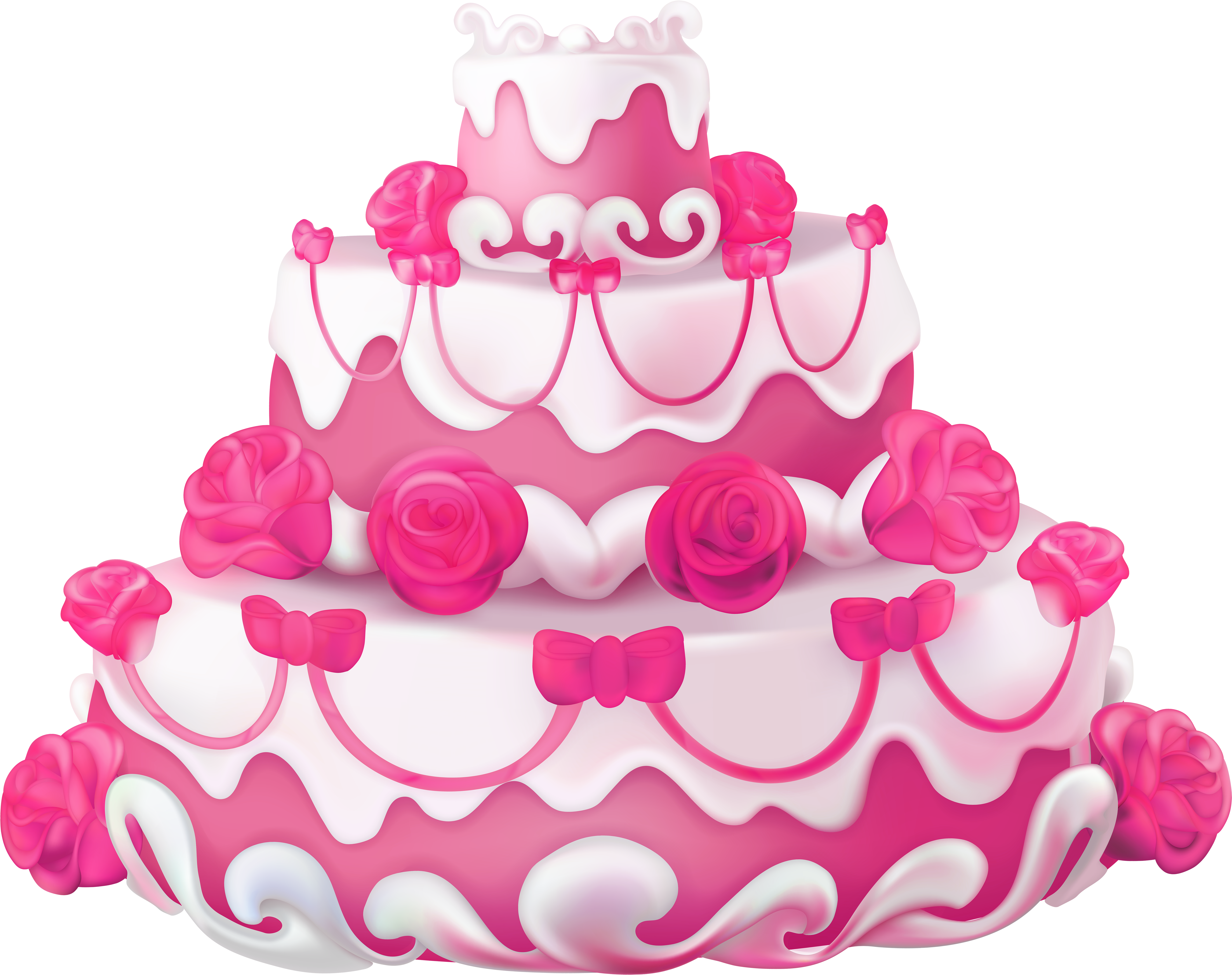 Download HD Pink Cake Clip Art At Clker - Happy Birthday