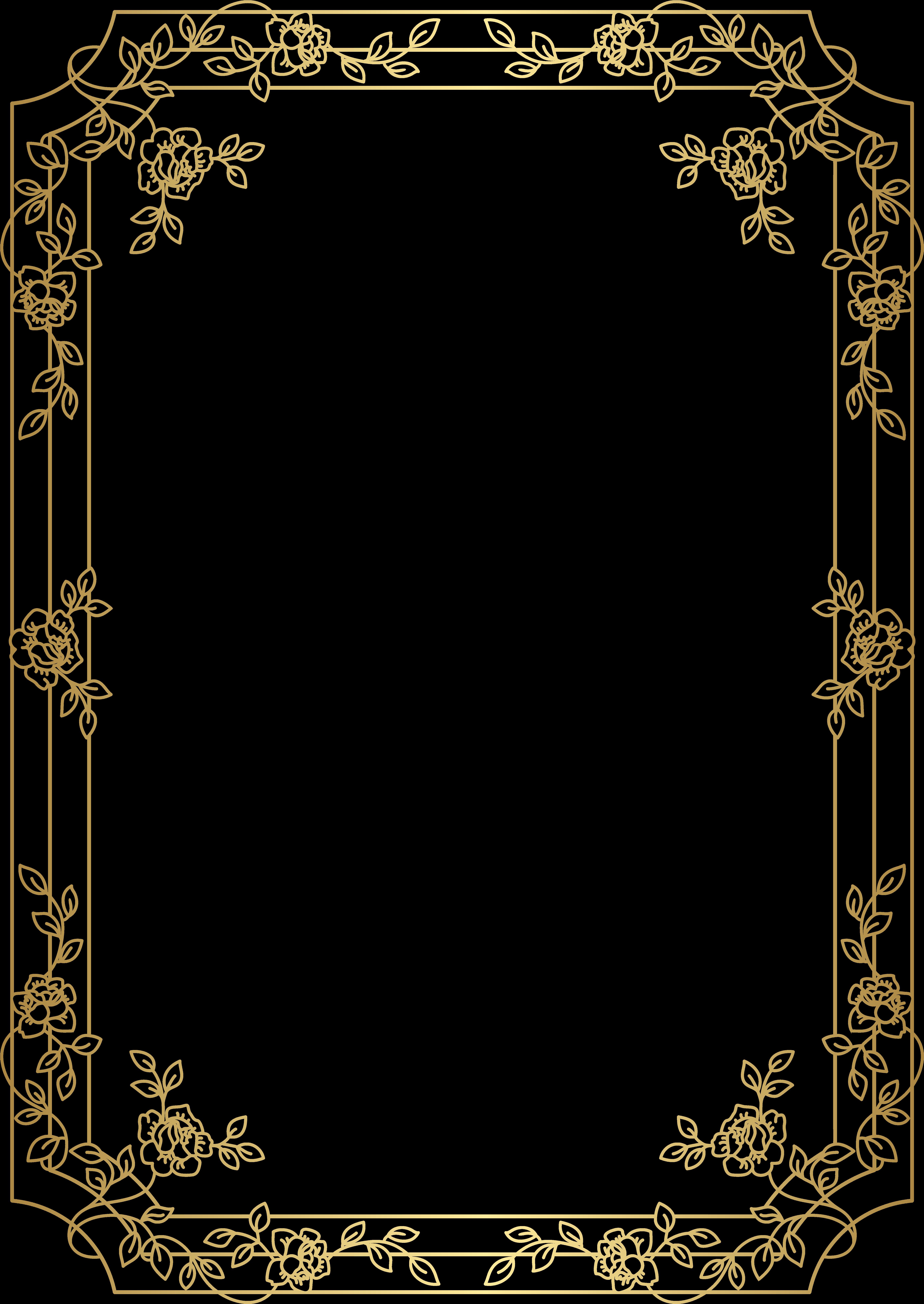 Download Hd Deco Border Frame Png Clip Art Art Deco Frame Png Transparent Png Image Nicepng Com