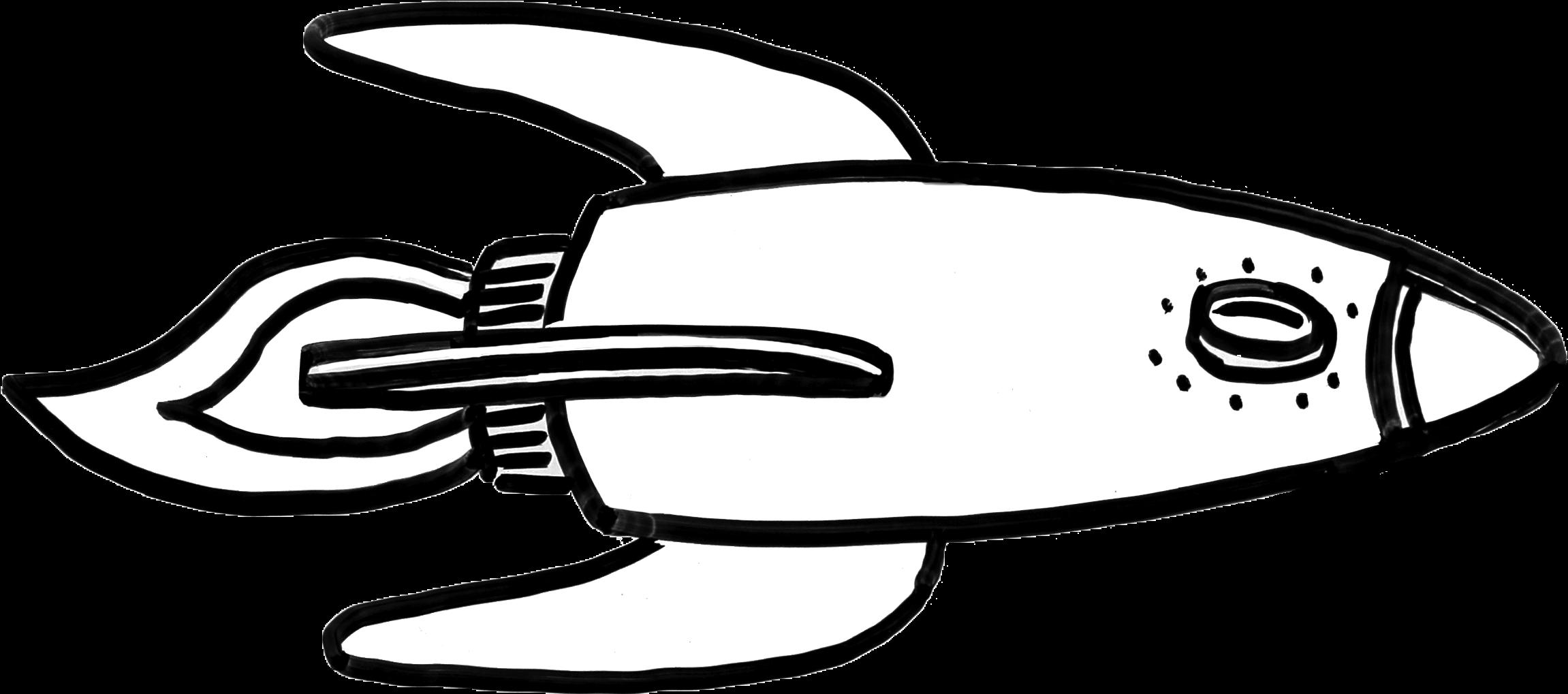 Download Hd Rocket Sketch Transparent Png Image Nicepng Com