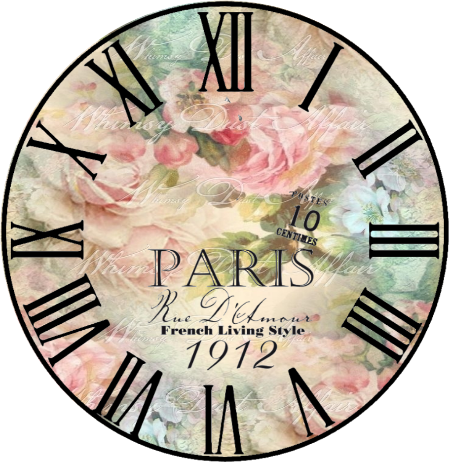Download HD Free Vintage Clock   Jam Dinding Shabby Chic ...