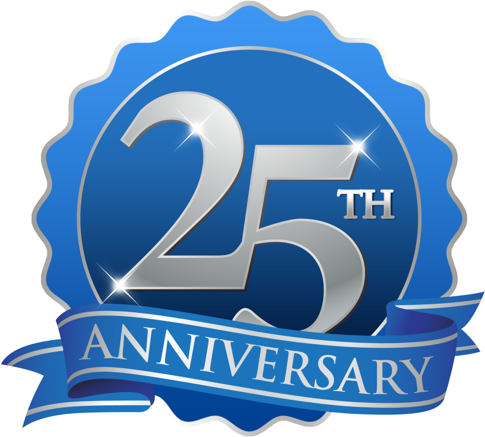 25th anniversary png download hd th anniversary png - th anniversary blue