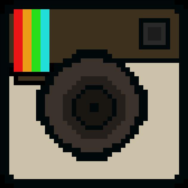Download Hd Instagram Logo Pixel Art Transparent Png Image