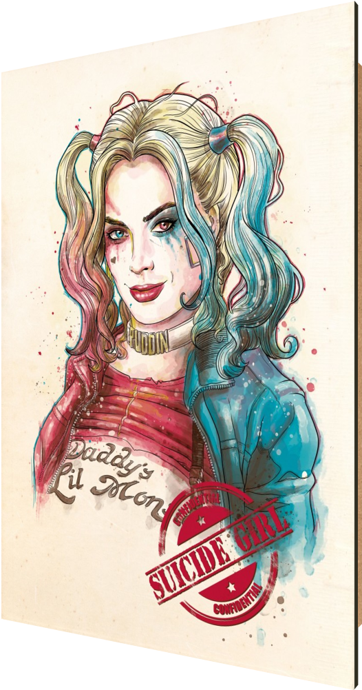 Download Hd Suicide Girl Harley Quinn Joker Suicide Squad Batman Illustration Transparent Png Image Nicepng Com